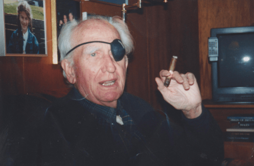 Glenn McPherson in his later years. Photo courtesy Whistler Museum.