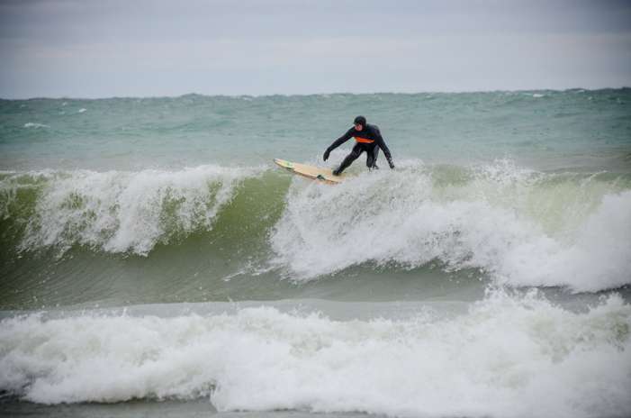 On top of the world: Surfers were treated to some great waves from start to finish. ALLISON KENNEDY DAVIES PHOTO.