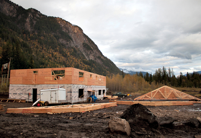 The new staging area under construction. Photo courtesy Eagle Pass Heli.