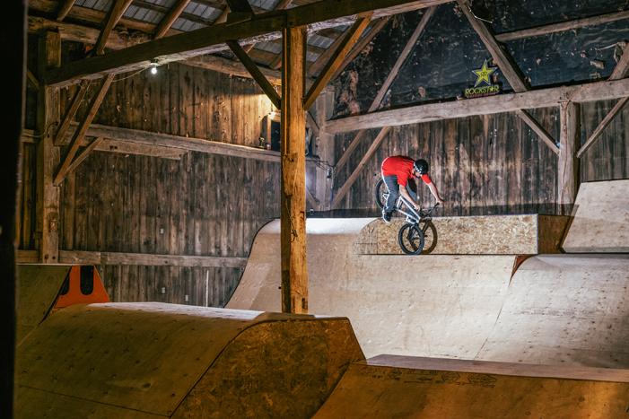 Matt Konings at the Ramp Barn at Motopark. MAX WHARIN PHOTO