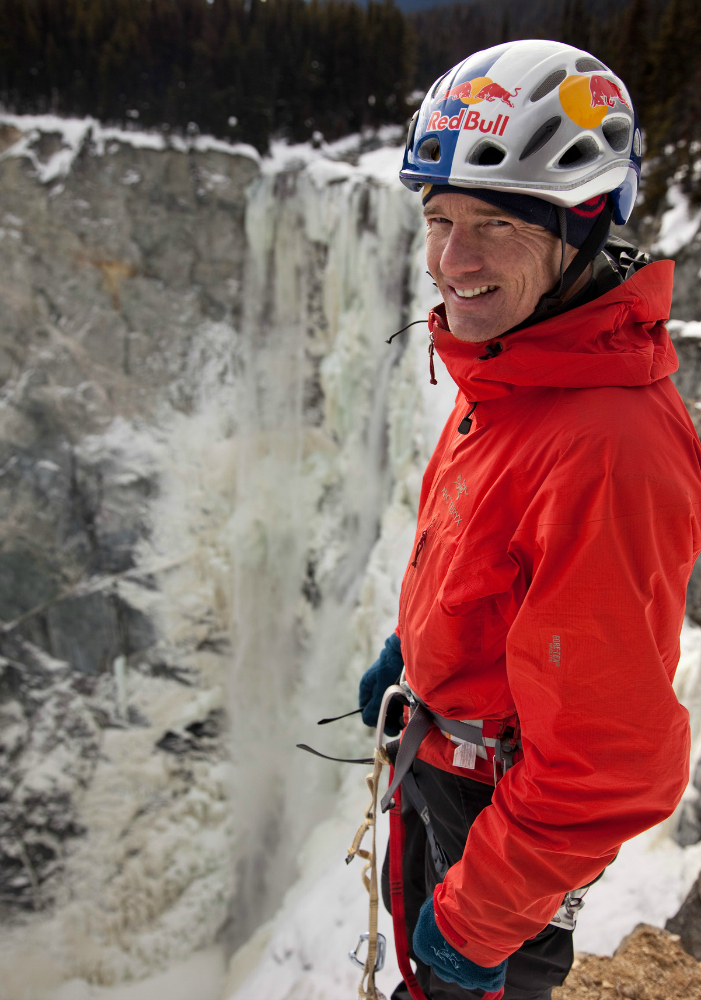 Hunlen Falls - BC, Canada Athlete: Will Gadd Description: Will Gadd and EJ Plimley climb first ascent of Hunlen Falls in BC, Canada. Hunlen Falls is potentially one of the world's tallest vertical frozen waterfalls.