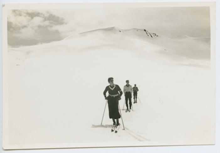 Caption 1: Members of the 1939 George Bury expedition explore Garibaldi Provicial Park's vast alpine expanses. Courtesy Whistler Museum.