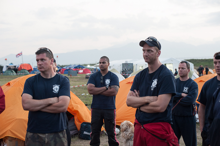 Day 2: UN Base, Kathmandu airport. SHAUN MADIGAN PHOTO.