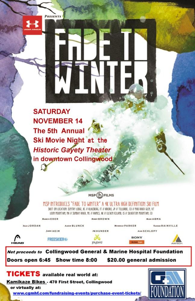 Ski Movie Night 11x17 Poster - Nov 2015