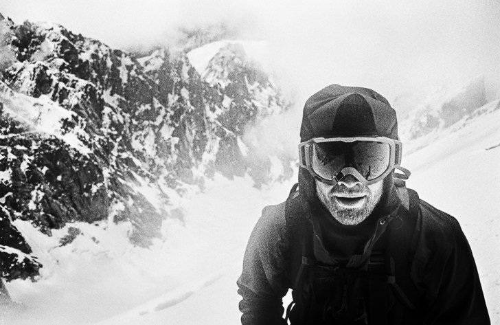 The author after a gritty approach to another summit. PETER SCHON PHOTO.