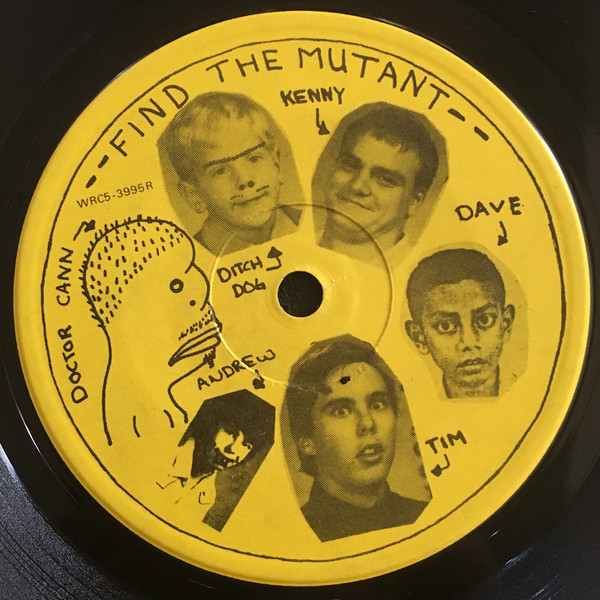 Centre label of the Hayseed Hardcore reissue. Courtesy