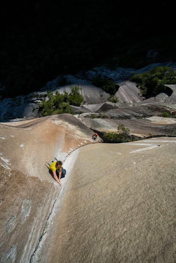 Cochamo climbing area first ascent high up