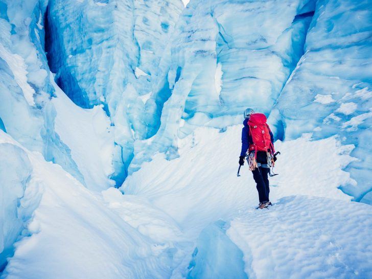 Ryan Larkin entering the Bowles of The Matier Icefall