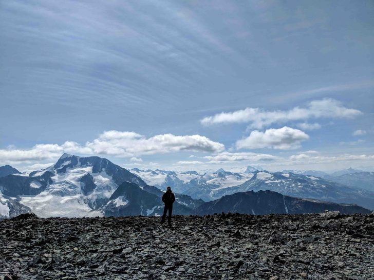 Looking over the peaks near Wedgmont and Mount Cooke outside of Whistler.