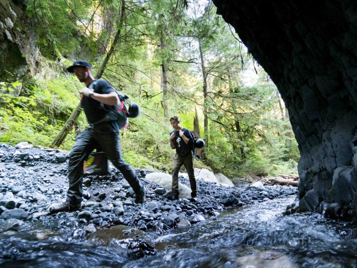 Ricky Forbes approaching Box Canyon outside Squamish BC
