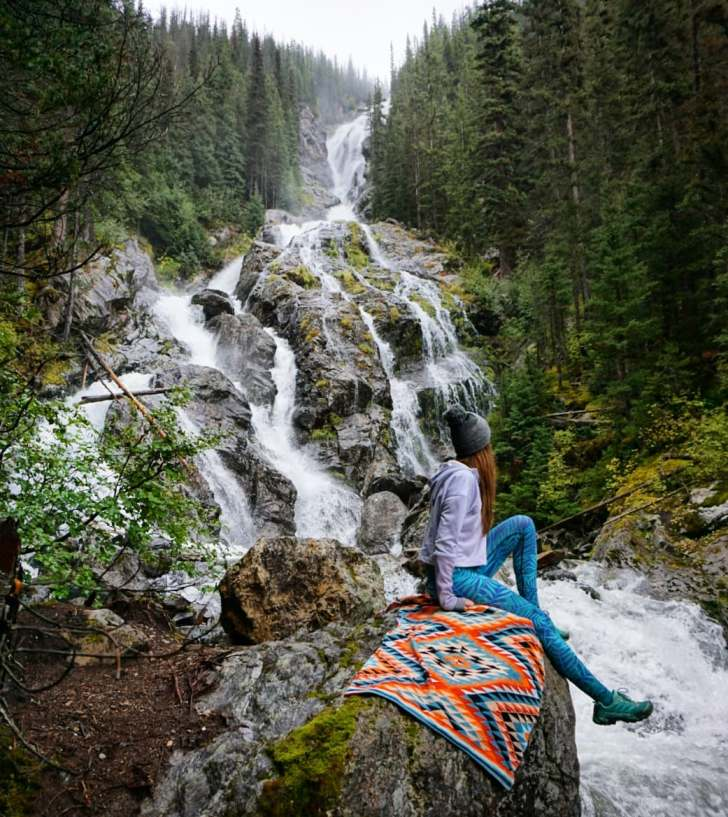 Enjoying the mystical view of Silvertip Falls