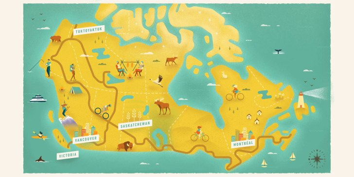 Canada's The Great Trail touches all three oceans: Atlantic, Pacific, Arctic