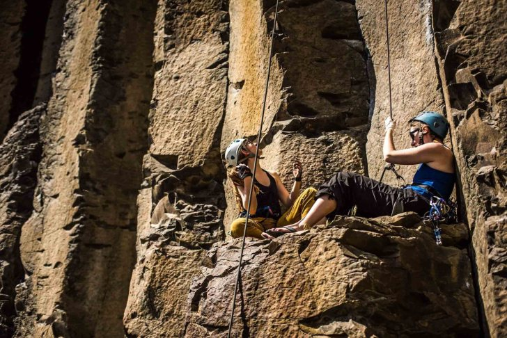 Sport climbing in Vantage Washington