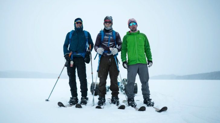 3 guys in the snow