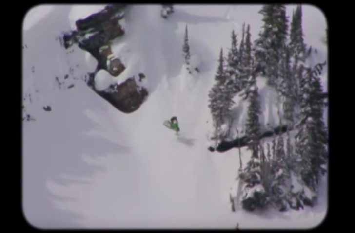 snowmachine landing sideways on slope