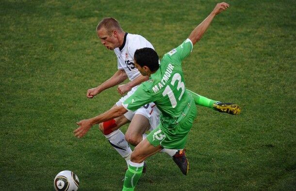 Jay Demerit playing soccer