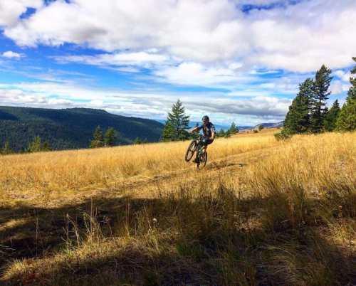 Mountain BIking in the Chilcotins in British Columbia