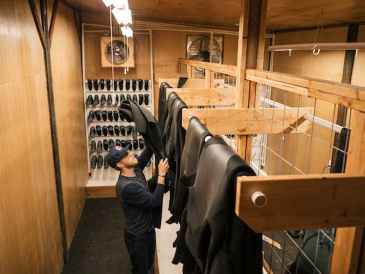 A room dedicated to drying wetsuits? They might have thought of it all.