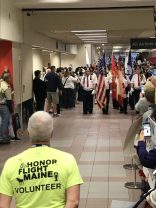 Greeting Veterans at Airport
