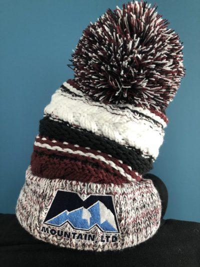 Maroon Winter Toboggan Hat