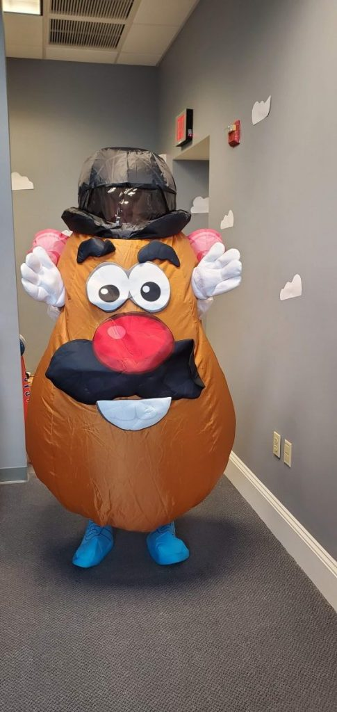 Julian as Mr. Potato Head