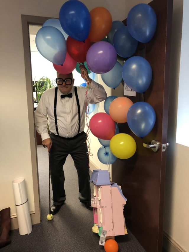 Shawn as Carl Fredericksen from UP!