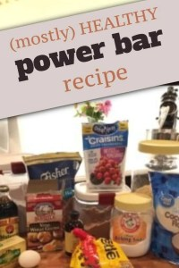 pinterest pin for healthy power bar recipe
