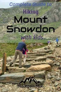 pinterest pin for article on hiking Mount Snowdon with kids