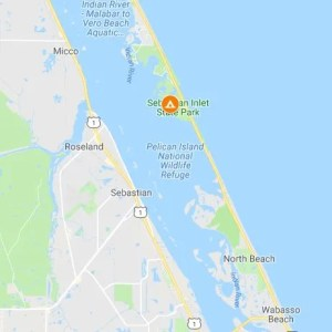 map location of Sebastian Inlet State Park