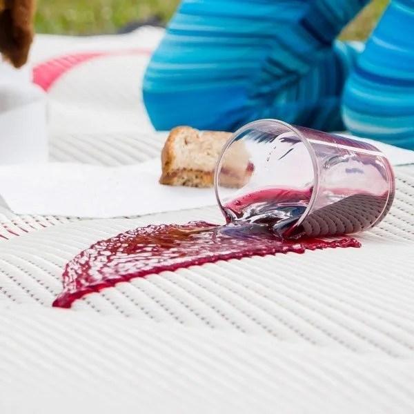 close up of spill on Mountain Mat outdoor play mat