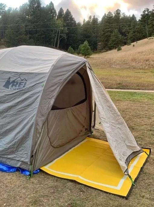5x7 plastic campsite mat for inside/outside tent door