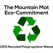 Mountain Mat Premium recycled plastic outdoor reversible camping RV patio mat size 8' x 16' with carry bag