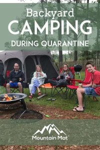 Pinterest Pin for blog post Backyard Camping during Quarantine
