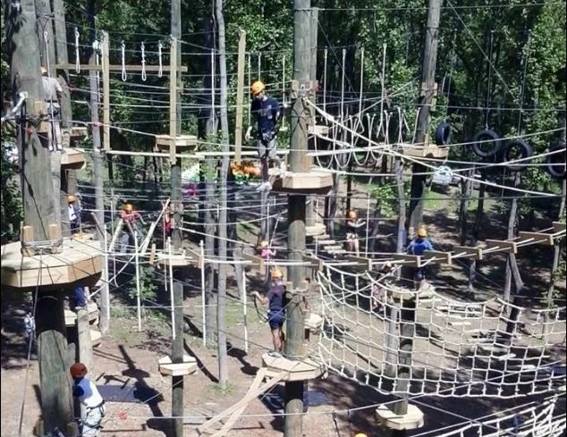 Ropes course at harpers ferry adventure center