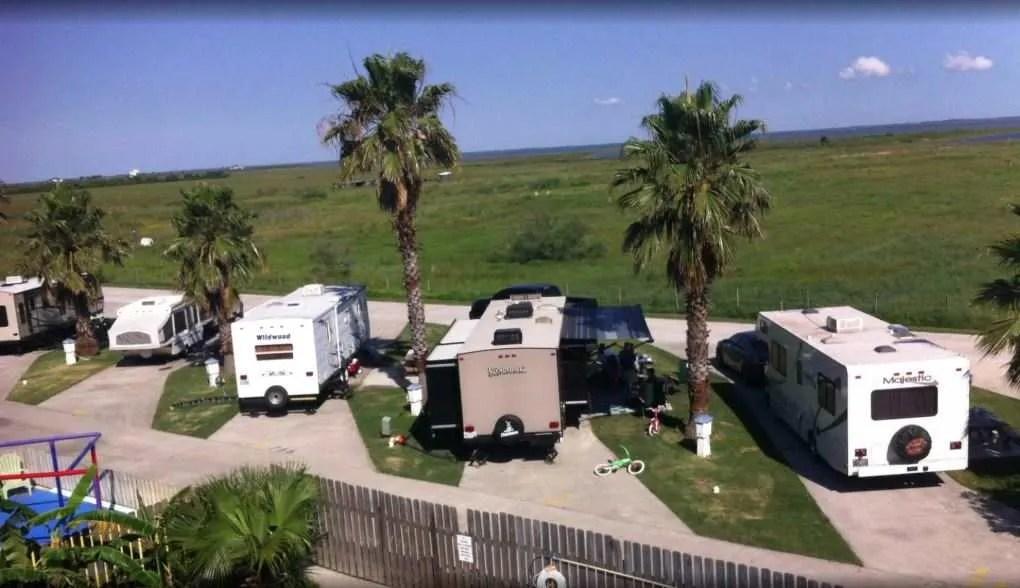 RVs parked at Jamaica RV Resort