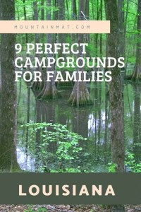 Pinterest Pin for blogpost Best Family Friendly Campgrounds in Louisiana
