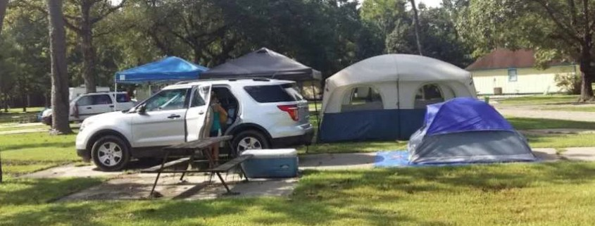 Car camping with tent