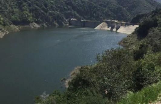 lake by a dam