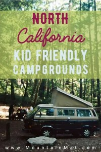 blogpost pin for best campgrounds for families in north california