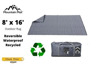 Mountain Mat 8x16 Reversible Outdoor Rug for Camping