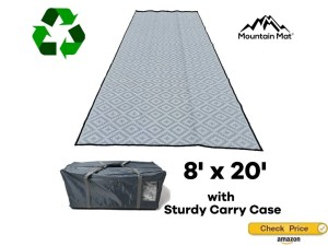 extra long RV rug for patio with a carry bag