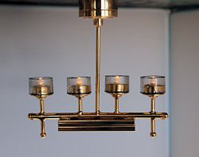 Battery Operated Contemporary Ceiling Fixture 112 scale