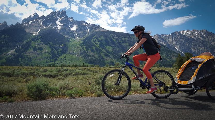 Mountain Mom Biking in Grand Teton National Park