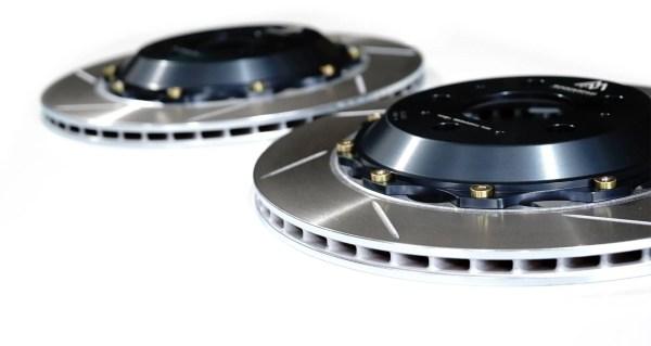 Closeup of tesla model 3 mpp rotors