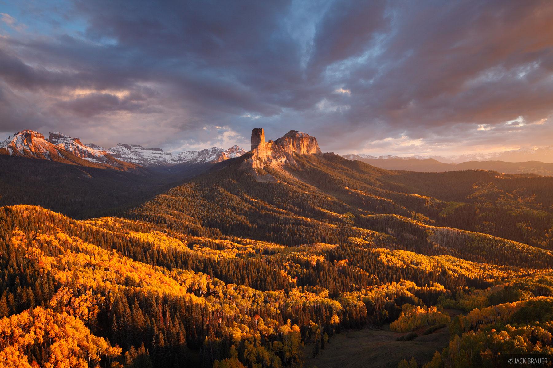 Chimney Rock Sunset  San Juan Mountains Colorado
