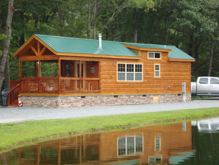 Modular log cabins rv park model log cabins 2 mountain for Rv log cabins