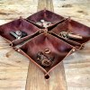 Leather Catch-All Bowls
