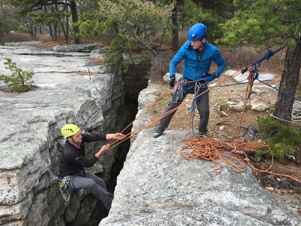 Rock Climbing Top Rope Anchors