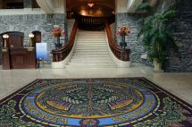 Banff Springs Hotel Entrance Reception Lobby With Grand