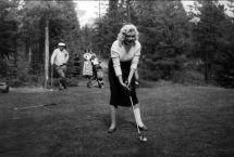 22f Marilyn Monroe Golfing Banff Springs Hotel In 1954